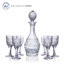 Alibambah Botol Kaca Set / Glass Wine Decanter Set - ALB-001