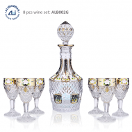 Alibambah Botol Kaca Set / Glass Wine Decanter Set - ALB-002G