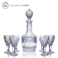 Alibambah Botol Kaca Set / Glass Wine Decanter Set - ALB-002