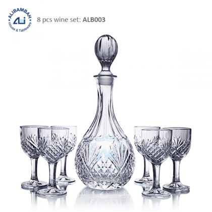 Alibambah Botol Kaca Set / Glass Wine Decanter Set - ALB-003