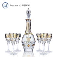 Alibambah Botol Kaca Set / Glass Wine Decanter Set - ALB-005G