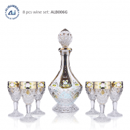 Alibambah Botol Kaca Set / Glass Wine Decanter Set - ALB-006G