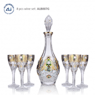 Alibambah Botol Kaca Set / Glass Wine Decanter Set - ALB-007G
