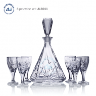 Alibambah Botol Kaca Set / Glass Wine Decanter Set - ALB-011