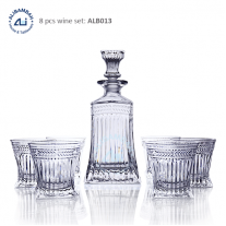 Alibambah Botol Kaca Set / Glass Whiskey Decanter Set - ALB-013