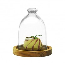 Alibambah Toples Dome Kaca / Glass Dome - Dome A Base Kayu (800 ml)