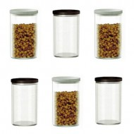 Alibambah Toples Kaca Kedap Udara Set 6 Pcs - Canary B-PL (880 ml)